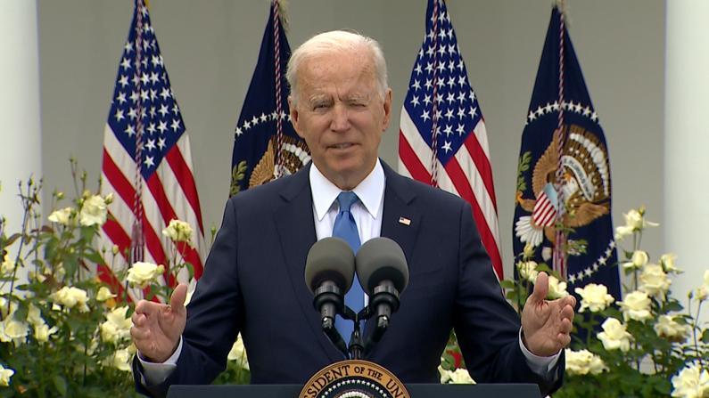 拜登:CDC口罩新指南是伟大里程碑 请尊重继续戴口罩者