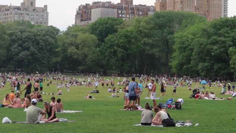 """纽约博物馆、公园游人如织 """"不戴口罩感觉很安全"""""""