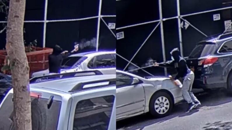 快找掩护!两男子纽约曼哈顿掏枪互射,把街头当战场