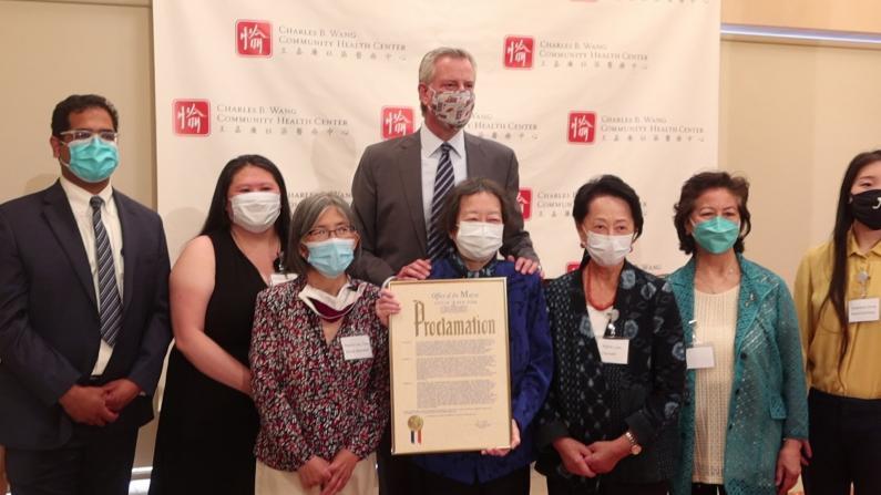 疫期无休服务社区 王嘉廉社区医疗中心获纽约市长褒奖