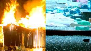 明尼苏达再爆警察枪击案件引抗议 骚乱者肆意纵火抢劫店铺