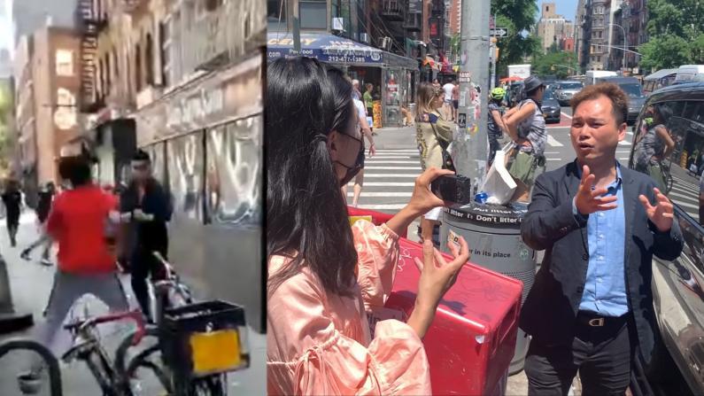 """纽约中餐馆经理变身""""李小龙""""打退小混混:华裔只要公平对待"""