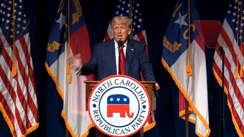 """""""对我的调查一遍遍失败""""川普再度公开演讲为2024竞选铺路"""