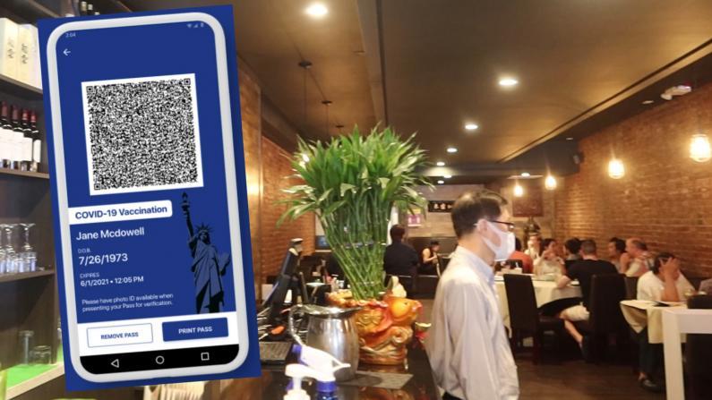 """餐馆实行""""疫苗护照"""" 华人业者怎么看?民众反应不一"""