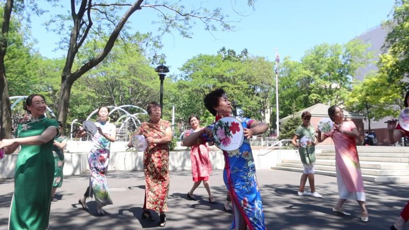 纽约公园老人活动多 老人中心重开他们想回去吗?