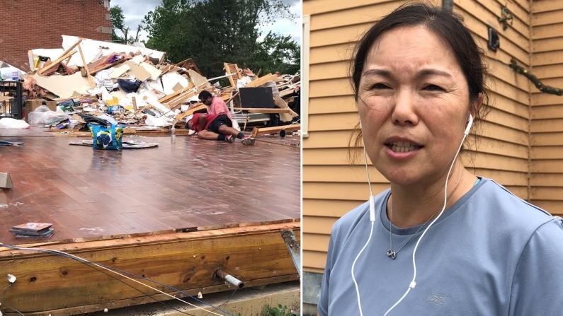 【实拍】伊州瑞柏市龙卷风过后满目狼藉 华人灾民:没法估计损失,不敢去想