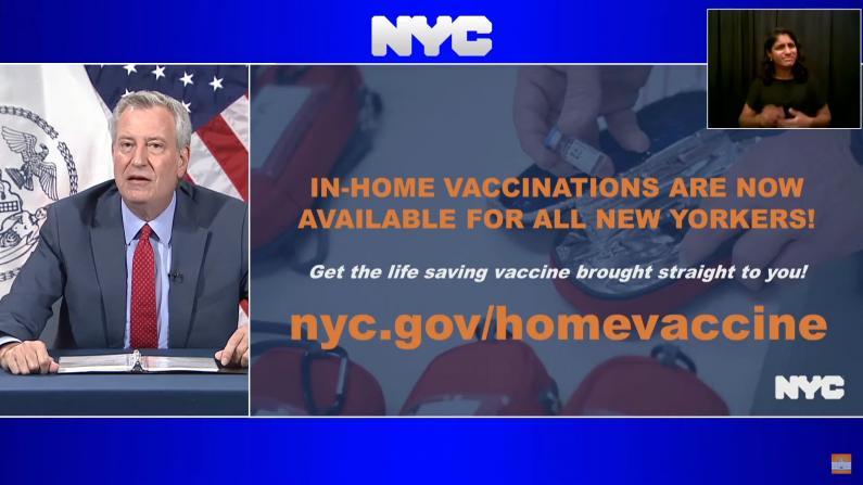 纽约市提供大范围上门打疫苗服务 申请居然这么简单