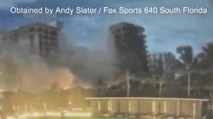 恐怖!监控拍下迈阿密公寓坍塌瞬间