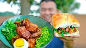 【佳萌小厨房】不开火做肉夹馍:方法简单倍儿解馋,老麦吃到直发呆