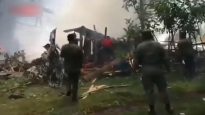 菲律宾军机坠毁已致52人遇难 一个黑匣子已寻获