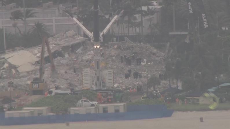 热带风暴艾尔莎逼近佛州 迈阿密公寓搜救难上加难