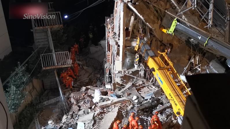 苏州酒店坍塌事故初步原因查明 更多救援画面曝光