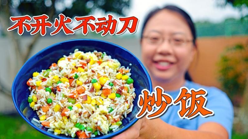 【佳萌小厨房】微波炉蛋炒饭 15分钟生米成熟饭!