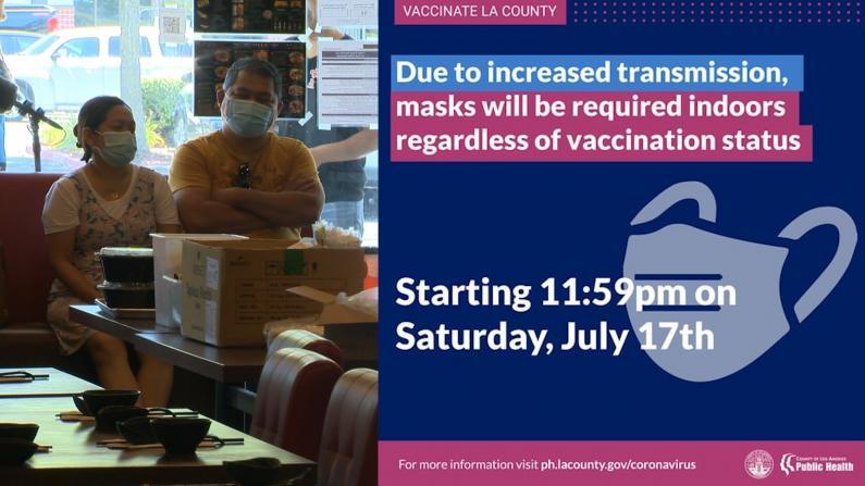 确诊攀升 加州多郡重新要求室内戴口罩