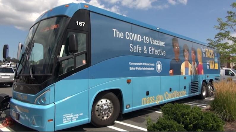 打疫苗抽演唱会门票 波士顿出动疫苗公交车推动接种率