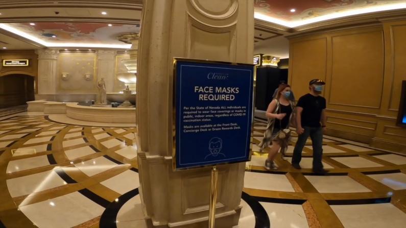 维加斯赌场重启室内口罩令 游客:1000%支持