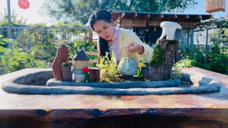 【德州田园生活】纯手工打造树脂茶几,真的太漂亮了!