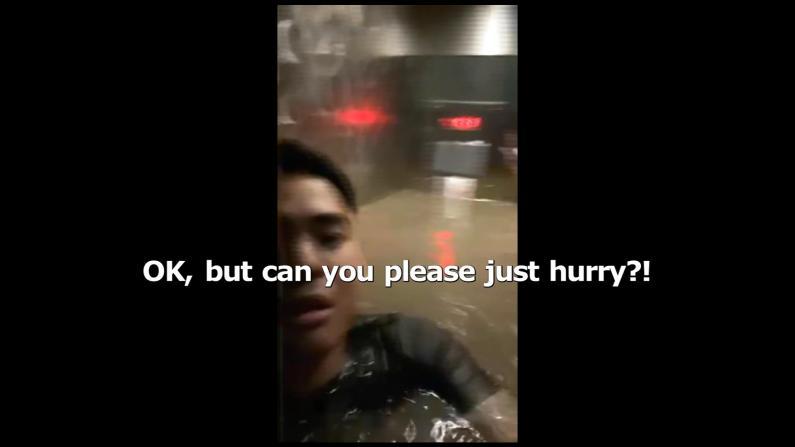 恐怖!电梯淹水及肩 奥马哈男子被困室友紧急救援