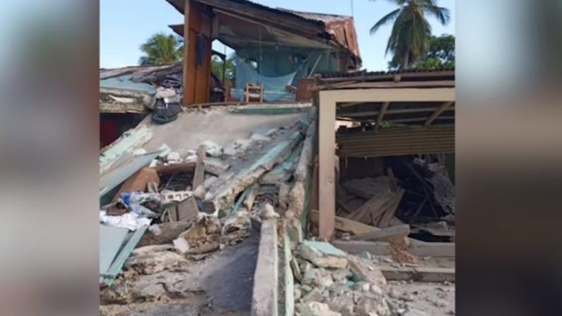 海地地震破坏巨大损失惨重 目前已造成至少227人死亡