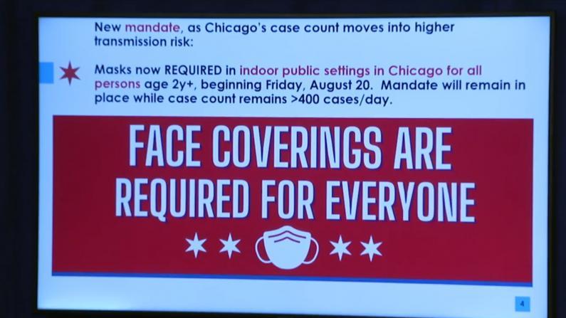 芝加哥周五实行新一轮室内口罩令