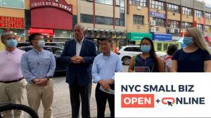 后疫情线上经营新模式 纽约皇后区总商会给商家免费做网站