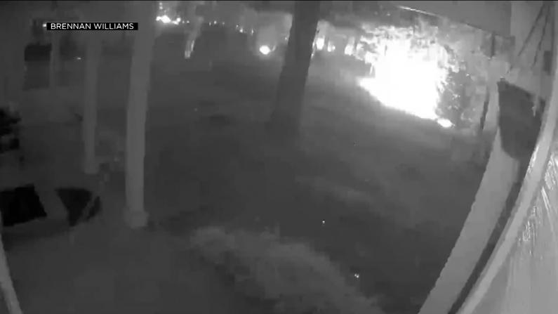 北加卡尔多火蔓延 门铃摄像头记录野火逼近吞噬房屋