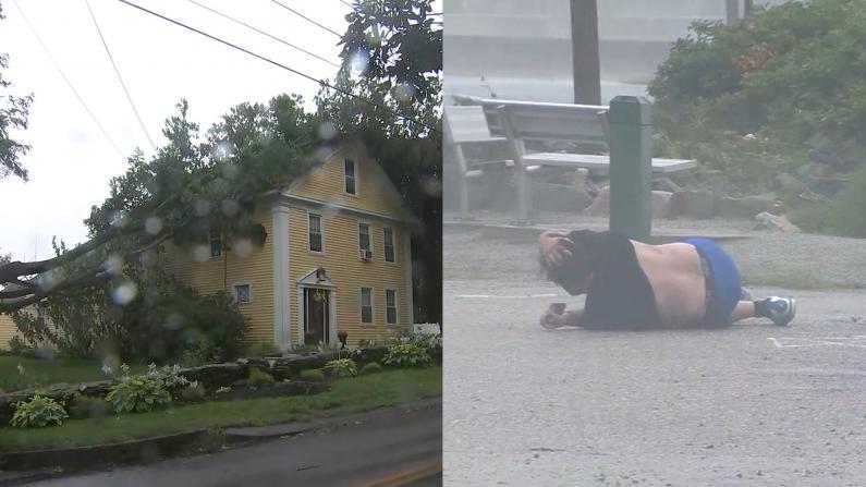 热带风暴亨利持续影响东北 停电树折人吹飞