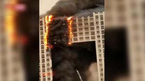 大连凯旋国际大厦明火已扑灭 无人员伤亡