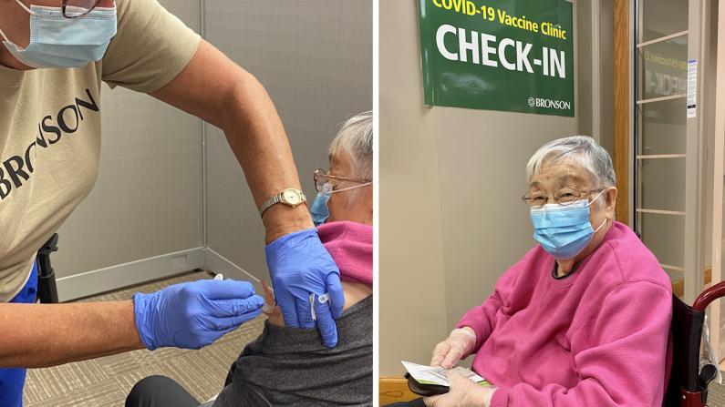92岁华人老太接种加强针后感觉如何?