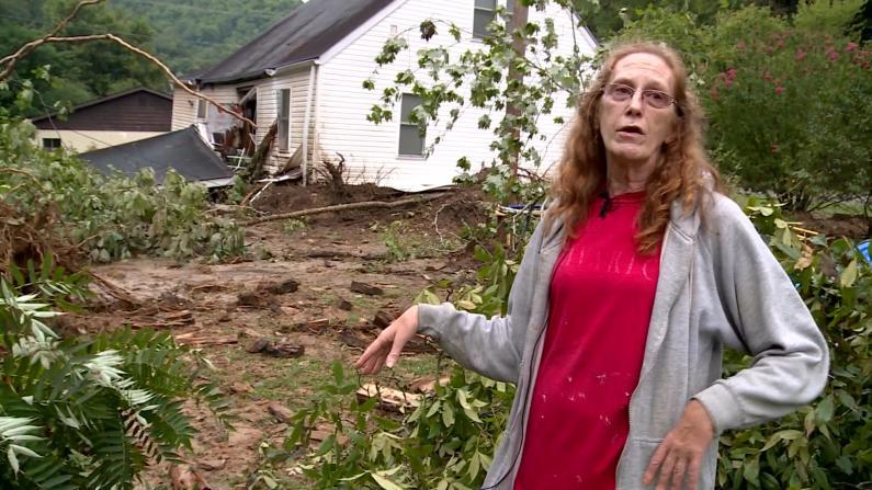 """""""艾达""""影响持续 泥石流冲走房屋 灾民:我家客厅有棵树…"""