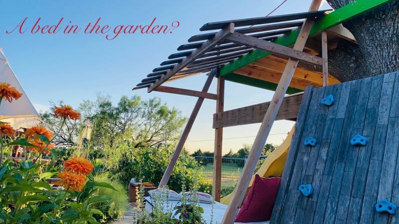 【德州田园生活】花园里有张可以休息的床是什么体验?