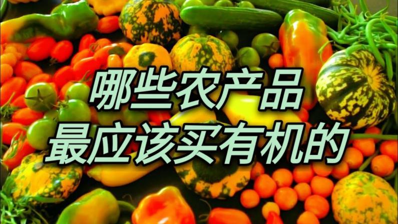 【Jenny的时尚健康生活】哪些农产品最应该买有机的?
