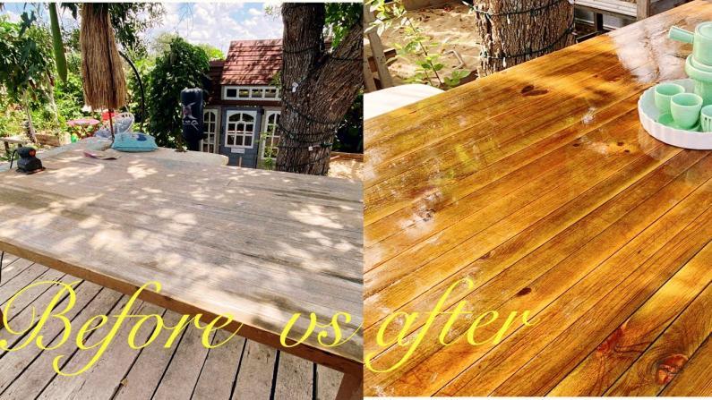 【德州田园生活】只要两步 让旧木桌焕发新机!