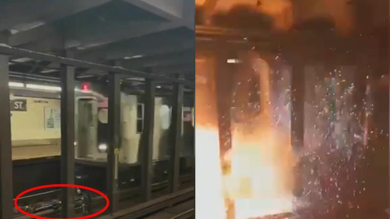 惊!纽约地铁碾过CitiBike致爆炸 警方:系人为放置 正通缉嫌犯
