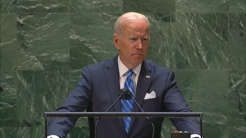 """拜登联合国大会发言:我们处于历史转折点 不会寻求""""新冷战"""""""