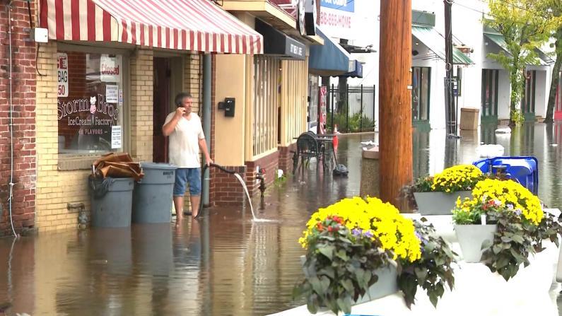 罕见暴雨洪水淹没马里兰州府商业区 国家气象局:将袭纽约