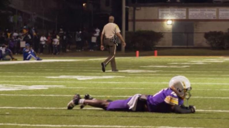 校园橄榄球赛爆枪击 视频拍到事发后瞬间惊慌场面