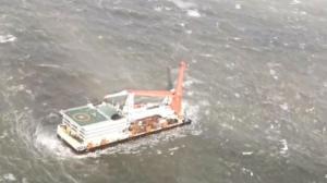 台风来袭福建2船58人遇险 双直升机多架次救援