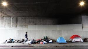 游民聚居区引忧 波士顿颁布行政令禁止游民在街道搭帐篷居住