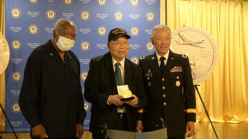 美中地区近150位二战华裔老兵获国会金质奖章