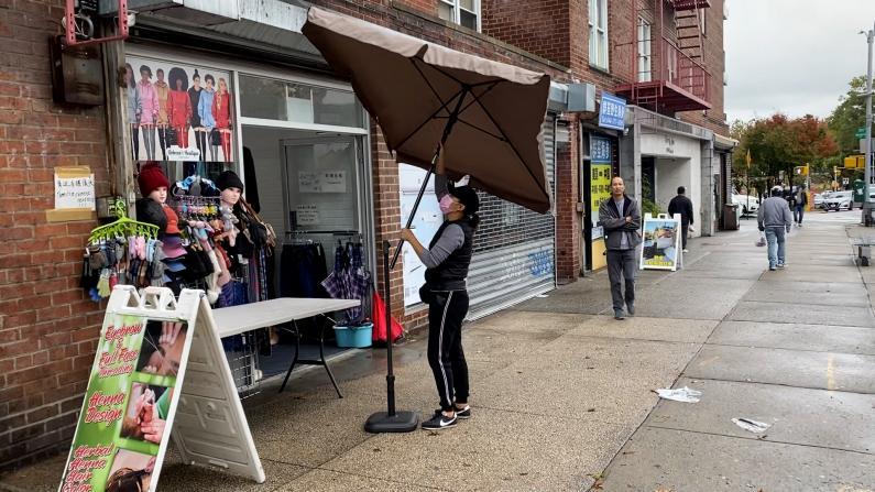 10小时强降雨后 纽约法拉盛积水严重吗?